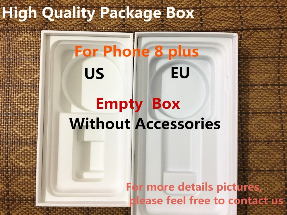 50pcs High Quality US EU Version Phone Packaging Packing Box Case For iPhone 8 plus Without