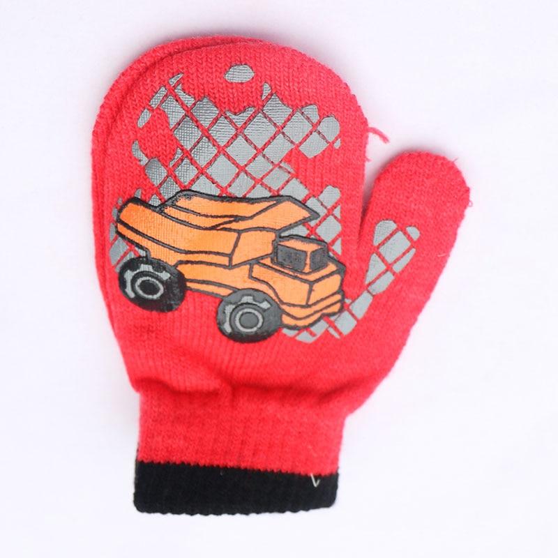 Vinter Varma Handskar Barn Strikte Vanter Barn Solid Girls Boy - Kläder tillbehör - Foto 4