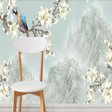 Factory direct new type of magnolia open rich hand-painted pen and flower sofa, bedroom, living room wall