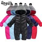 Baby winter clothes warm cotton newborn boy girl toddler overalls Hooded Outerwear Snowsuit jumpsuit costume zipper baby onesie