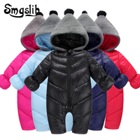 Baby winter clothes warm cotton newborn boy girl toddler overalls Hooded Outerwear Snowsuit jumpsuit costume zipper baby onesie