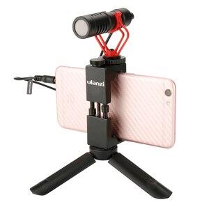 Image 3 - Ulanzi Mini trípode portátil para teléfono con rótula 1/4 para cámara, montaje de trípode para teléfono, iPhone, Moza, DJI, OSMO, Feiyu, Vimbal 2