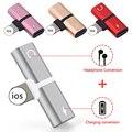 Двойной 2 in1 для Lightning адаптер зарядки для iPhone 8 Plus X IOS 10 11 12 зарядное устройство сплиттер для наушников конвертер - фото
