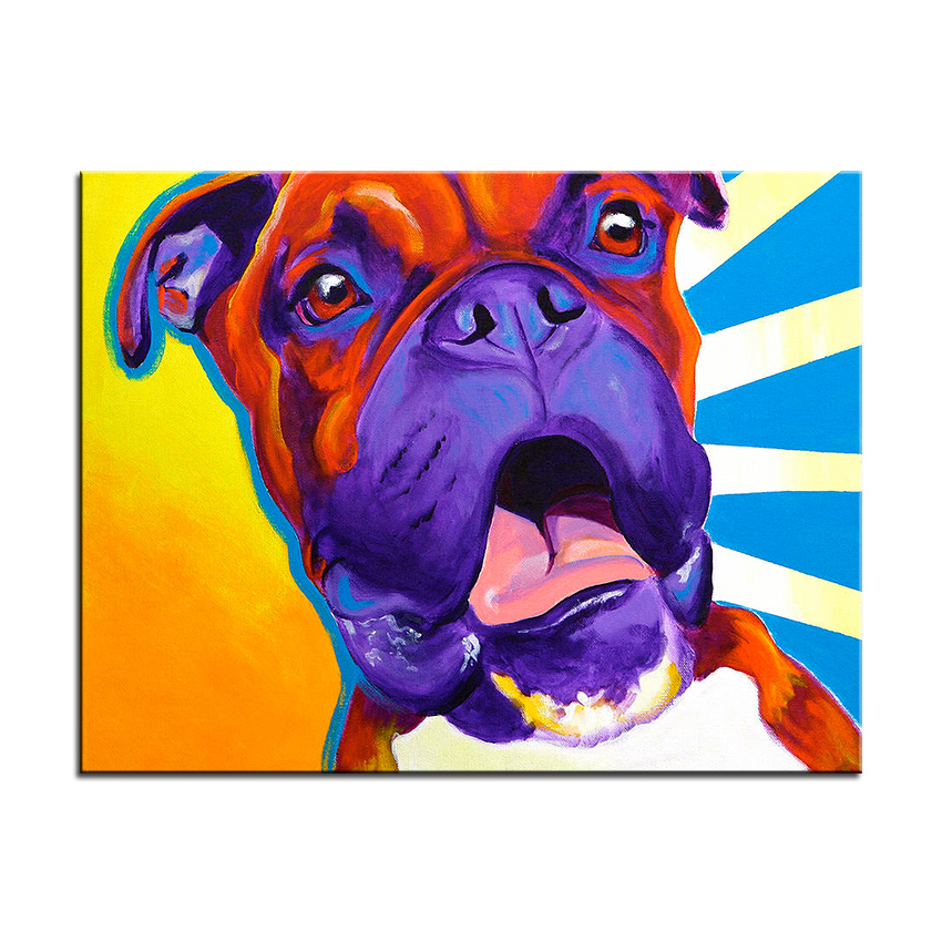 My Disco Fever Boxer Dog Decorative Wall Poster Colorful Pet Home ...