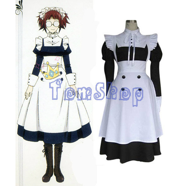 Anime Black Butler Mey Rin Cosplay Lolita Maid Dress Women Halloween  Costumes Custom-made Any