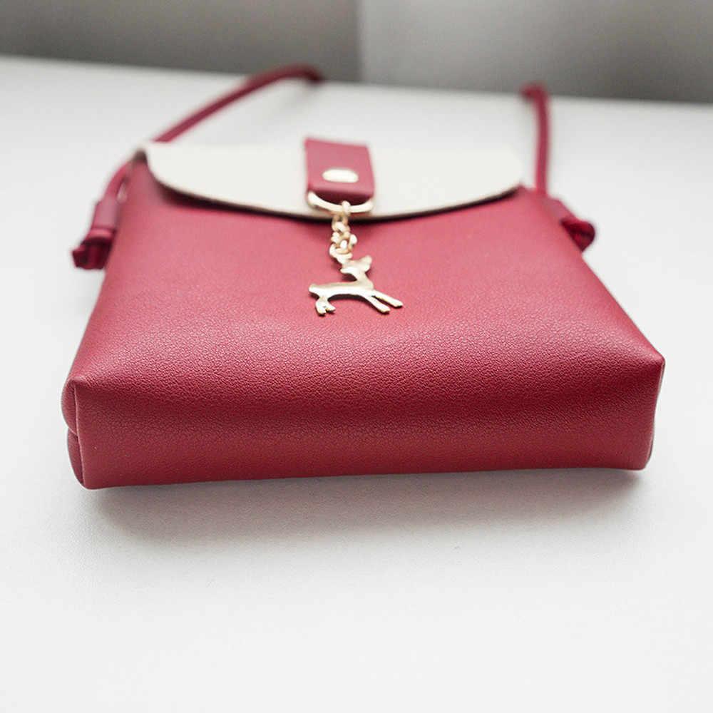 Женская модная сумка с оленем на плечо, сумка-мессенджер для телефона, монета, сумка для монет, mujer de hombro y bolsos sac основной femme de marque soldes