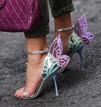 цена Newest Mixed Colors Laser Leather Women Open Toe Sandals Gold Glitter Strap Ladies Sexy High Heels Fashion Wedding Shoes Size 41 онлайн в 2017 году