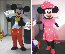 2 PC/hot pink mouse cartoon mascot costume adult size because Halloween carnival costumes