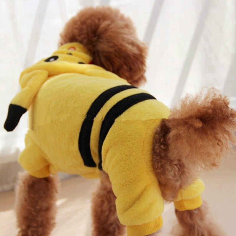 Забавный кот костюм животное одежда для собак комбинезон зимний собак пальто куртки пижамы одежда для собак кот экипировка пикачу покемон касается одежда 3