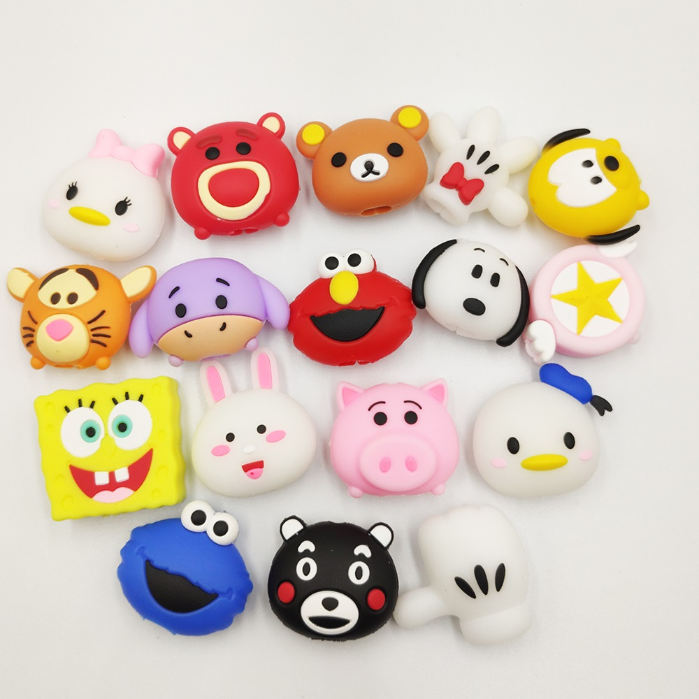 New Cute Cartoon Bite Animal Cable Protector For IPhone USB Data Cable Chompers Charger Wire Winder Organizer Doll Model
