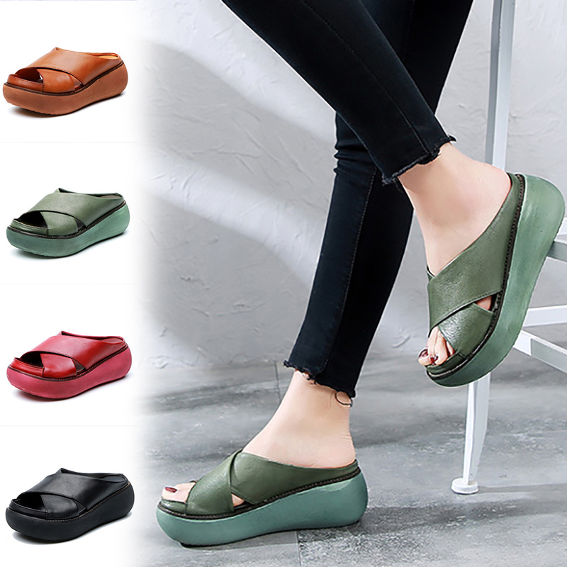 Women Shoes fashion slippers for summer light height increase shoes casual sandals beach shoes DD192Women Shoes fashion slippers for summer light height increase shoes casual sandals beach shoes DD192