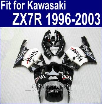 WEST sticker Fairing kit For Kawasaki ninja ZX7R 1996 1997 1998 2003 96 03 Customize free Fairings 7gifts a08