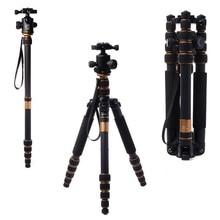 อัพเกรดQ666C Proแบบพกพาคาร์บอนไฟเบอร์ขาตั้งกล้องMonopod Q666Cขาตั้งกล้องสำหรับกล้องDslrโหลดแม็กซ์15กิโลกรัมจัดส่งฟรีโดยdhl