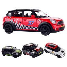 1:32 Skala Diecast Logam Paduan Model Mobil untuk Mini Coopers Countryman Model Tarik Kembali Mobil Mainan Kendaraan