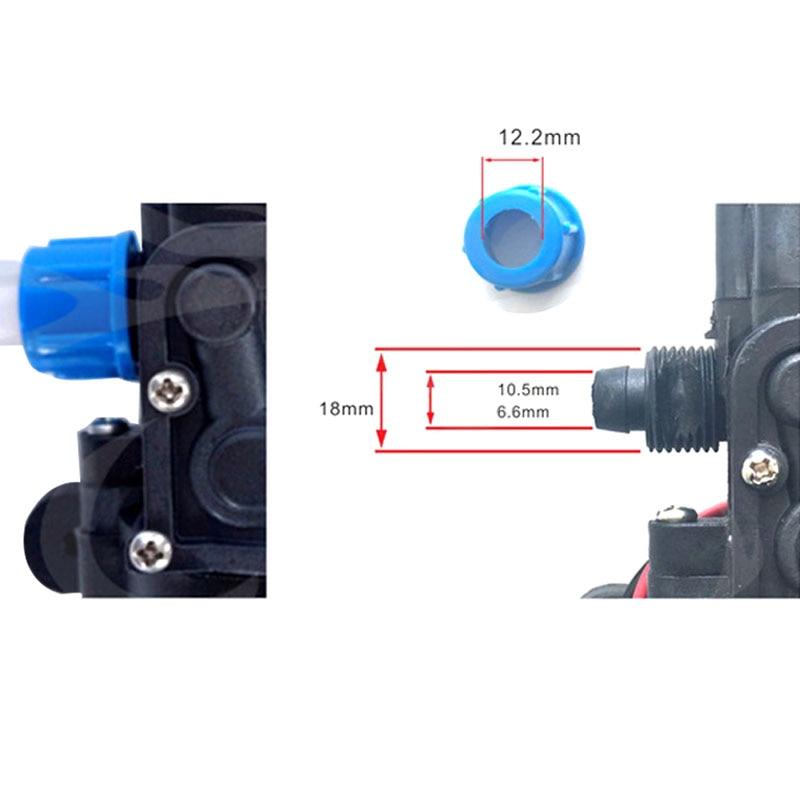 DC 12V 80W 1.0Mpa 130PSI 6L/Min eau haute pression pompe à eau à membrane pompe auto-amorçante commutateur automatique pour Wagon de jardin - 4