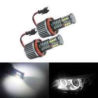 ANGRONG LED 120W Angel Eyes Light H8 Bulbs For BMW E60 E61 E81 E92 E70 E87 X1 X5 X6 Z4