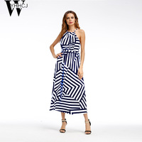 WYHHCJ 2017 New Halter 7 Colors Long Dress Women Backless 2017 Maxi Dresses Vestidos Sexy White
