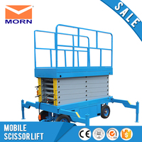 TS0.5 6 Mobile scissor lift small 500kg capacity with four wheels electric power hydraulic handing equipment platform table sale