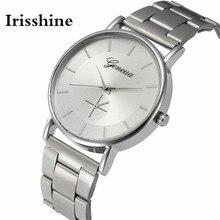 Irisshine B08 марка роскошные женщины часы часы леди подарок Женская Мода Кристалл Из Нержавеющей Стали Аналоговые Кварцевые Наручные Часы