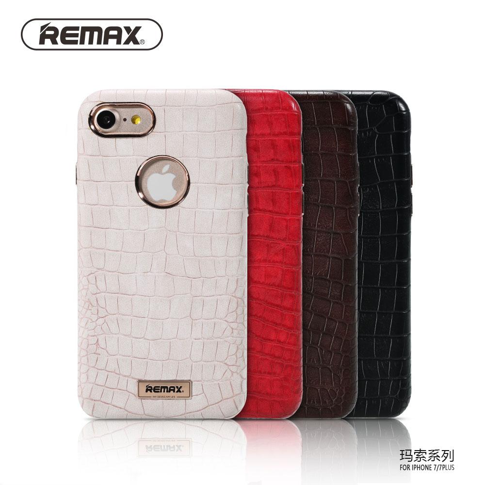 imágenes para Remax Para el iphone 7 iPhone 7 Más Cubierta de La Caja Dura de la PC Cuero de LA PU + Crocskin de Cuerpo Completo Protege el Caso de Lujo Estilo Fresco iPhone7