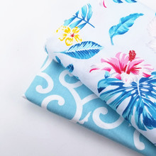 Floral/Cloud Patterns Printed Cotton Twill Patchwork Fabric DIY Manual Sewing Material For Dress Bedding Home Textile