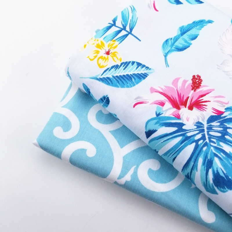 Floral/Cloud Patterns Printed Cotton Twill Patchwork Fabric DIY Manual Sewing Cotton Material For Dress Bedding Home Textile