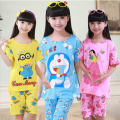summer pijamas kids 2016 new toddler boys girls pajamas sets cartoon print short sleeve tops+short pants children sleepwear