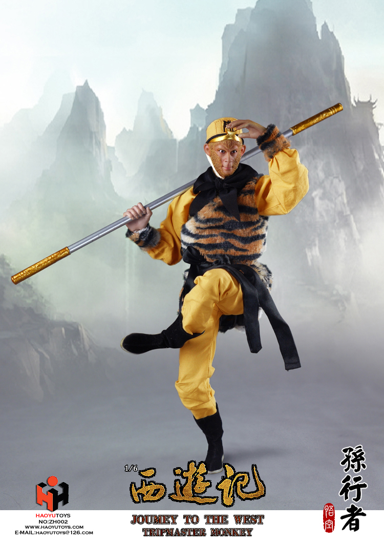 1 6 scale figure doll jurney to the west monkey king with 2 heads 12 action figures doll collectible figure model toy gift 1/6 scale figure doll Jurney To The West -Monkey King with 2 heads.12 action figures doll.Collectible figure model toy gift
