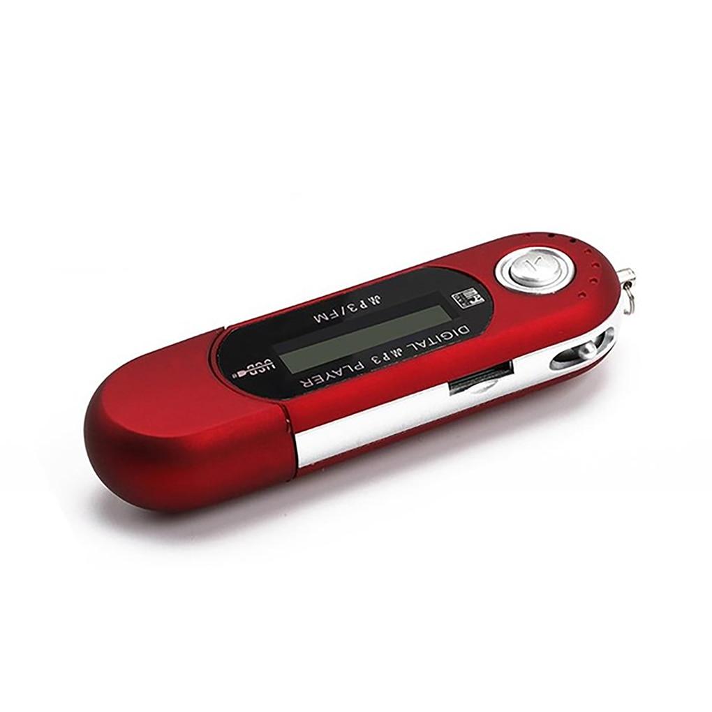 Портативный мини USB Flash LCD цифровой mp3-плеер Поддержка Flash 32GB TF слот для карты музыкальный плеер fm-радио