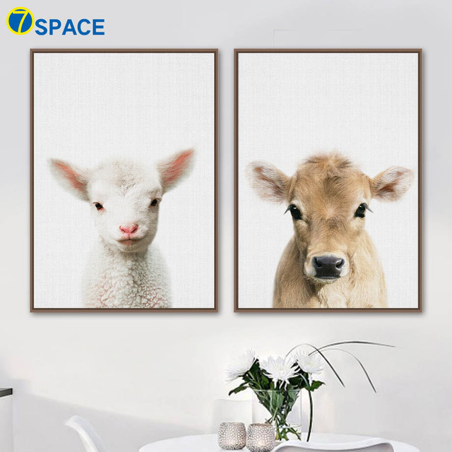 2c645a1923422 Sheep Cow Wall Art Canvas Painting Nordic Posters And Prints Animals Canvas  Art Prints Decoration Pictures For Living Room Decor