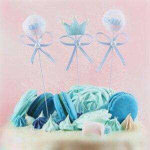 Image 3 - ベビーシャワーのケーキトッパーイスラム教徒ベーキング少年少女洗礼ブルー 1st 誕生日パーティーの装飾イベントパーティーの diy インテリア