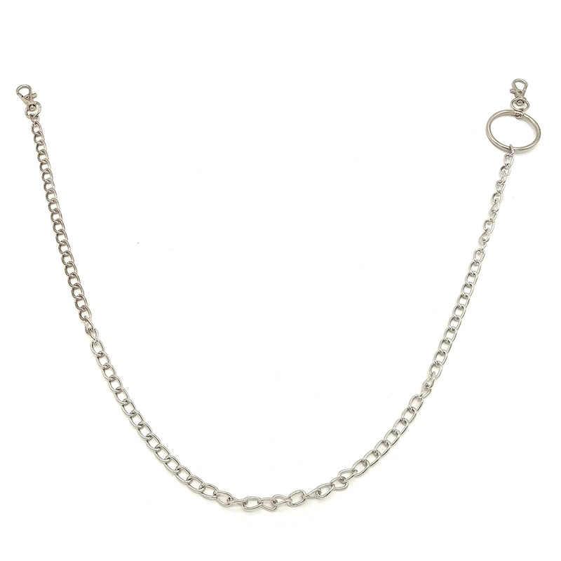 Nowy breloczek mały pierścień key Rock Punk Hook spodnie spodnie talia Link pas łańcuch metalowy portfel srebrny łańcuszek mężczyzn biżuteria spodnie łańcuch