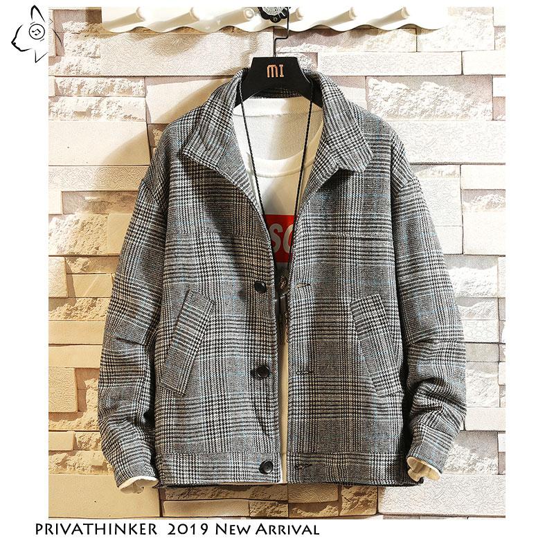 Privathinker Atutum Men Shirt Clothing 2020 Mens Japanese Streetwear Long Sleeve Shirts Male Causal Pocket Stripe Shirts Outwear