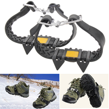 1 Pair New Snow Ice Climbing Anti Slip Spikes Grips Crampon Cleats 5-Stud Shoes Covers For Outdoor Hiking Sport Size M