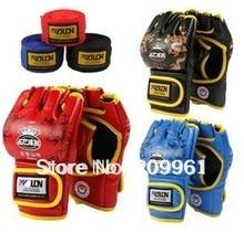 half finger boxing training gloves with bandages Sanshou fighting sandbag fighting mma Muaythai muay thai