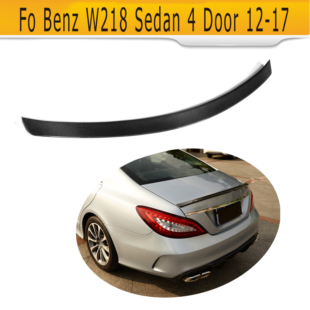 Carbon Fiber Rear Trunk Lip Wing Spoiler For Mercedes Benz W218 Sedan 4 Door 12-17 CLS63 AMG CLS350 CLS400