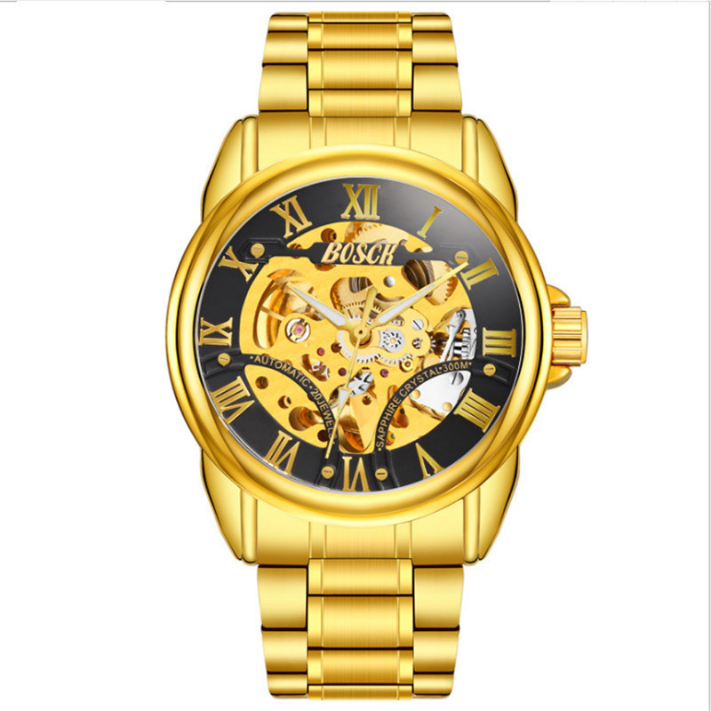 In 2018, the newly launched gold quartz luxury brand senior military watch and 22 mm stainless steel logistics male watch.