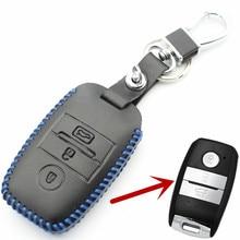 FLYBETTER Genuine Leather Smart Key Case Cover For Kia KX3/KX5/K3S/RIO/Ceed/Cerato/Optima/K5/Sportage/Sorento Car Styling  L72