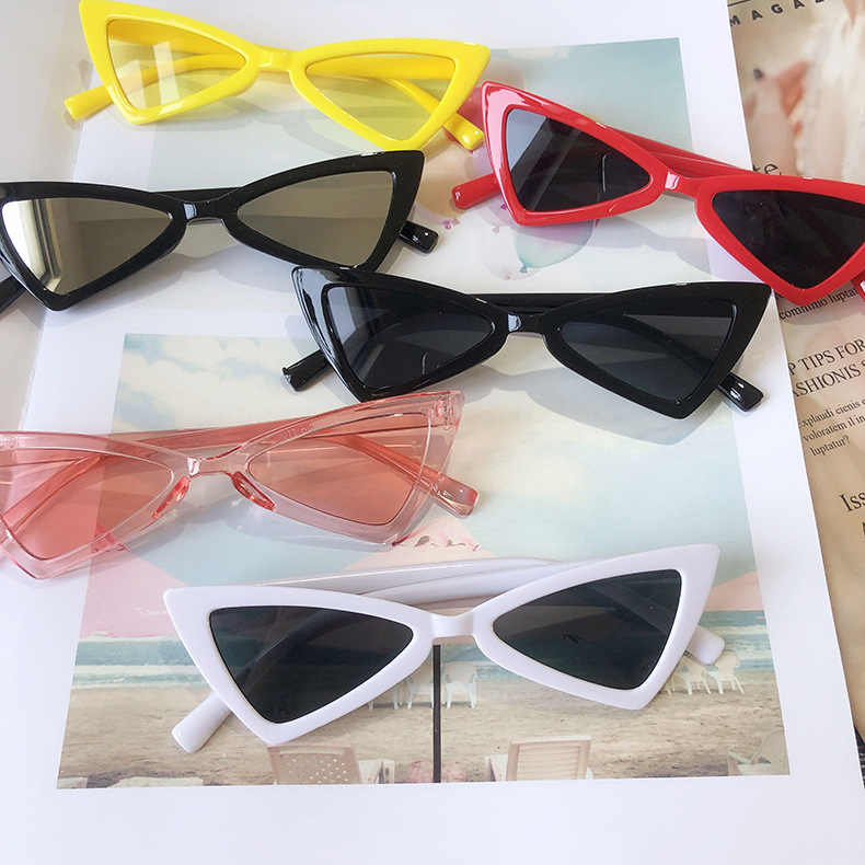 2019 Fashion Style Kids Vintage Cat Eye Children Sunglasses Triangle Shaped Boys&girls Brand Cute Sunglasses Baby Oculos