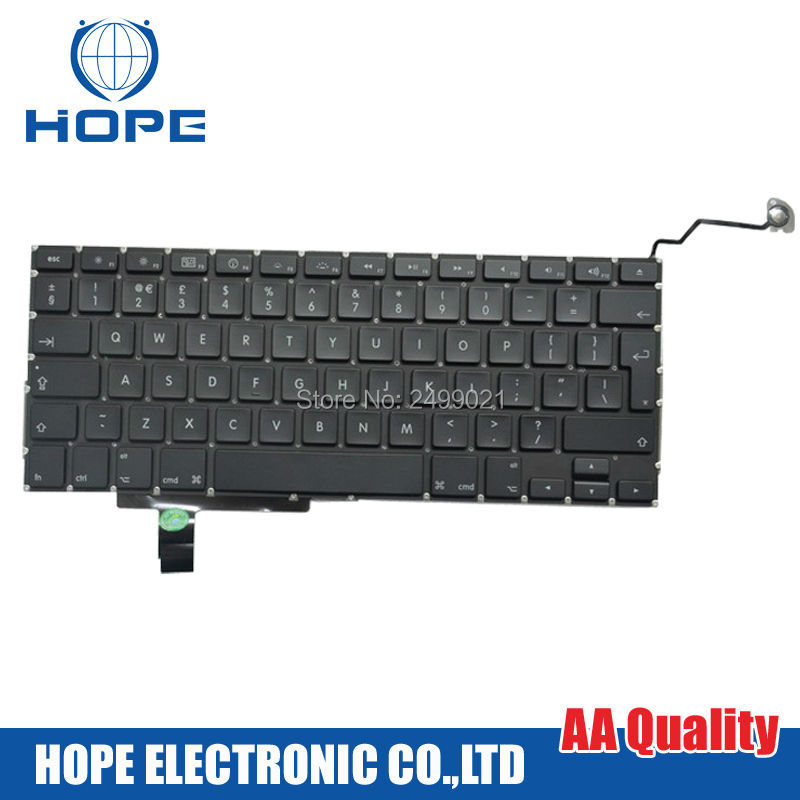 Original UK Keyboard For Apple Macbook Pro 17'' A1297 With Backlight 2009 2010 2011 2012