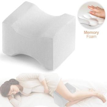 Almohada de espuma viscoelástica para las rodillas, almohadas para aliviar el dolor...
