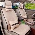 Venda QUENTE Universal para Toyota tampa de assento do carro auto cobre accassories interior com apoio lombar encosto de cabeça do carro styling