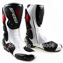 Новинка; Крутые ботинки высокого качества; белые ботинки в байкерском стиле; ботинки для скоростных гонок; мотоботы