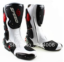 New Cool boots high quality white motorcycle boots Pro Biker SPEED Racing Boots,Motorbike boots