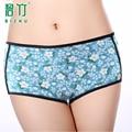 BIZHU 2016 Fisiológica de Rayas cintura baja pantalones cortos Impresos Período Menstrual Ropa Interior transpirable Bragas Calzoncillos calcinha