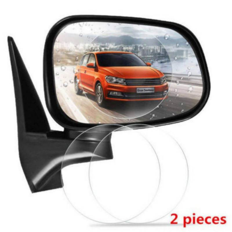 2Pcs Universal Rainproof Car Rearview Mirror Stickers Clear Protection Nano Safety Drive Film Anti Fog Transparent Window  AUTO