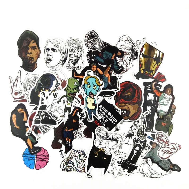 50 pcs/lote 1 Zumbi preto mix branco estilo Gótico caixa do trole Notebook adesivos skate geladeira decalques mochila