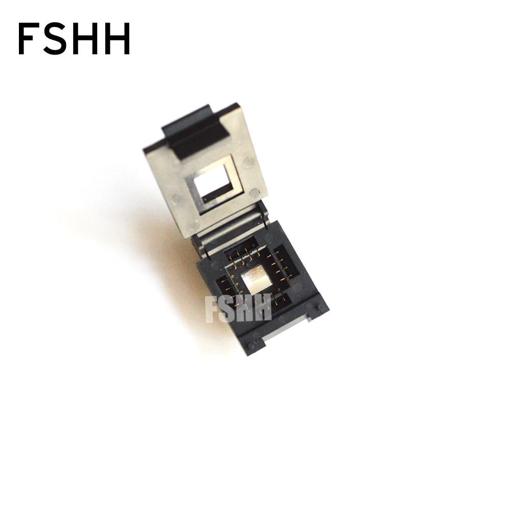 FSHH QFN16 WSON16 UDFN16 MLF16 Ic Test Socket Size=12.6mmx12.6mm Pin Pitch=2.54mm