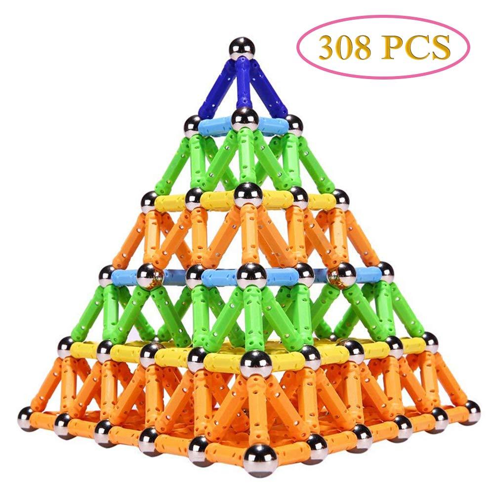308 pièces aimant jouet bâtons et boules en métal blocs de Construction magnétiques jouets de Construction enfants Designer jouet éducatif pour enfants