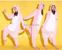 Cosplay Kigurumi Costumes Pink Dinosaur Adult Flannel Onesies Pajamas Jumpsuit Hoodies Sleepwear For Adults